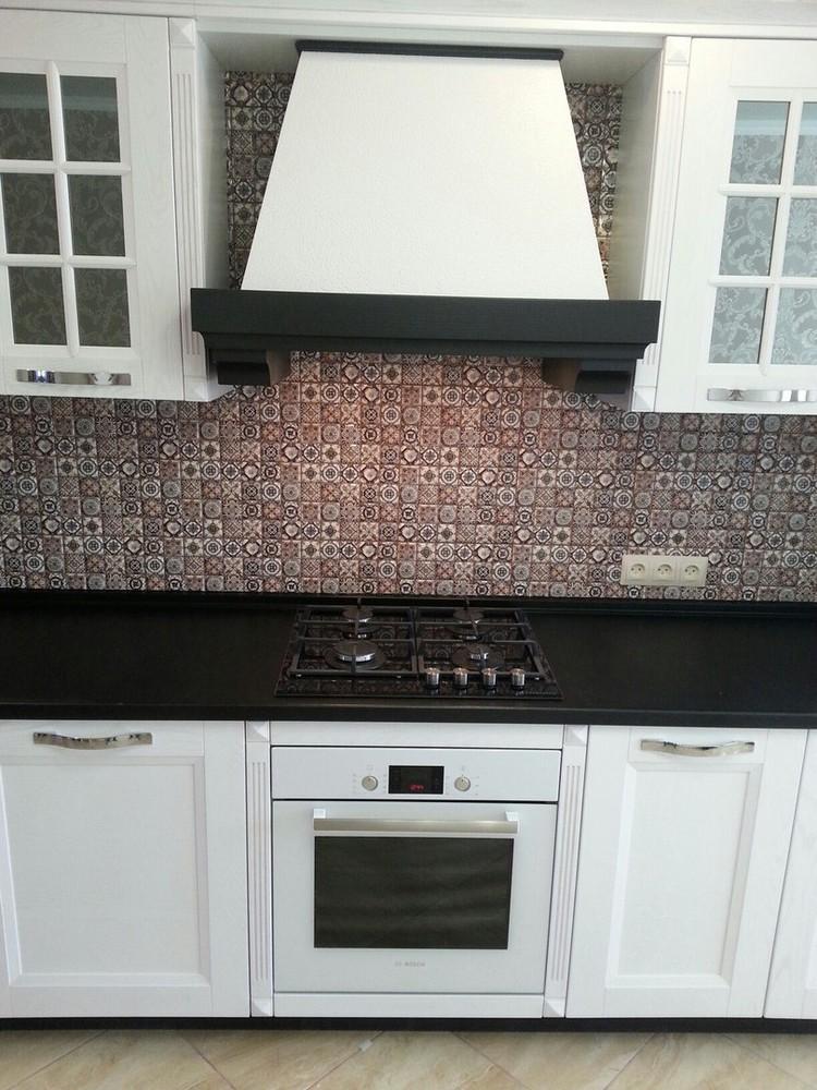 Белый кухонный гарнитур-Кухня МДФ в ПВХ «Модель 139»-фото3