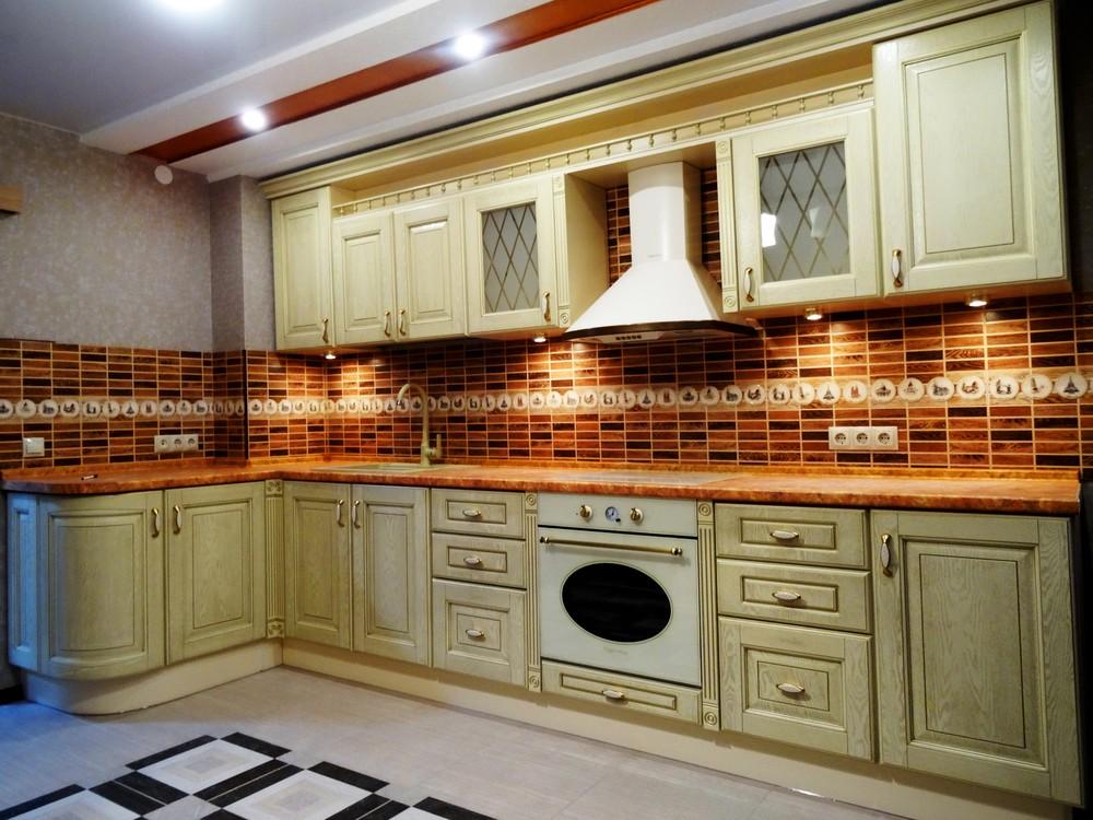 Бежевые кухни-Кухня МДФ в эмали «Модель 301»-фото3