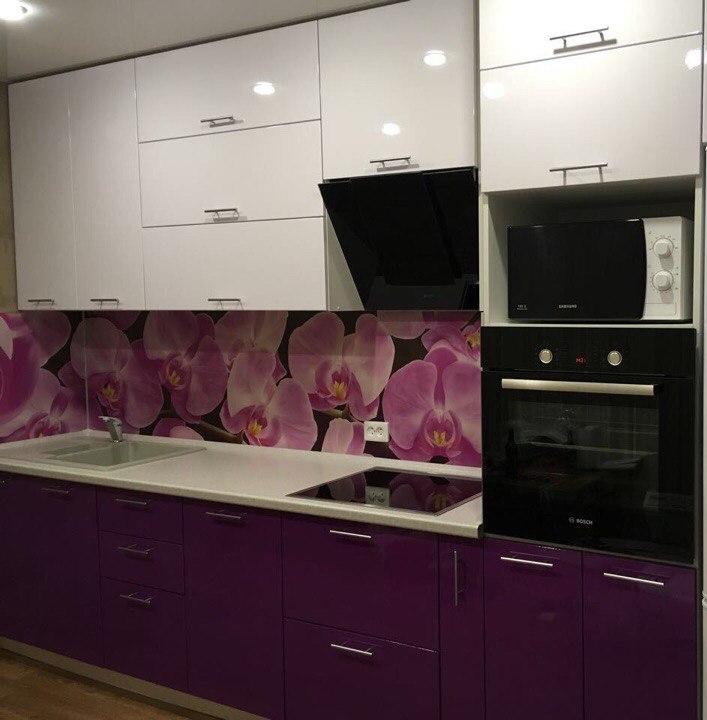 Белый кухонный гарнитур-Кухня из пластика «Модель 267»-фото1