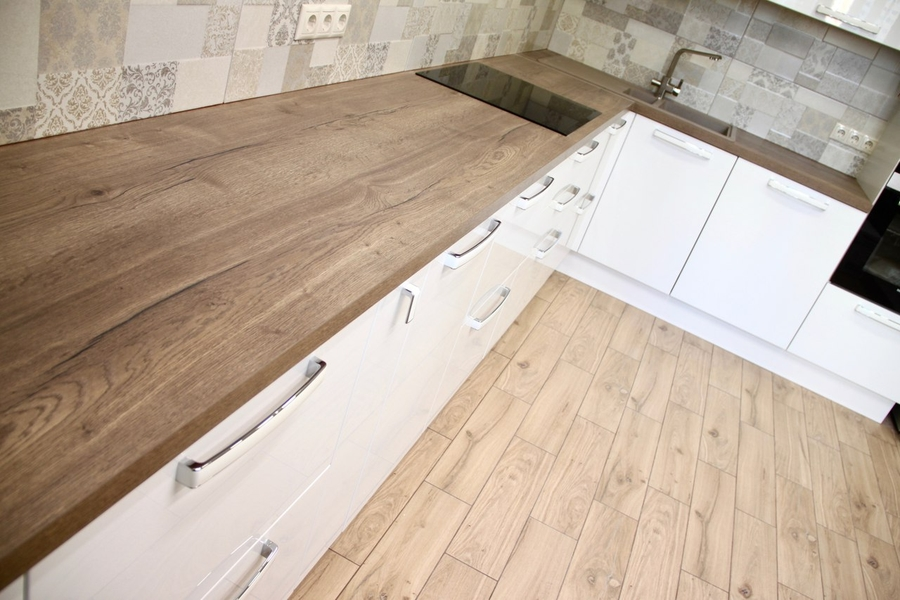 Белый кухонный гарнитур-Кухня МДФ в эмали «Модель 289»-фото4