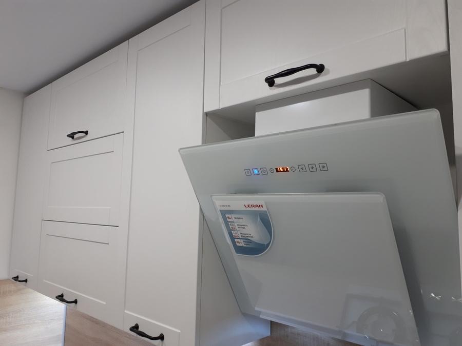 Белый кухонный гарнитур-Кухня МДФ в ПВХ «Модель 500»-фото4