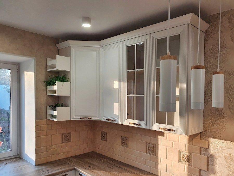 Белый кухонный гарнитур-Кухня МДФ в эмали «Модель 530»-фото5