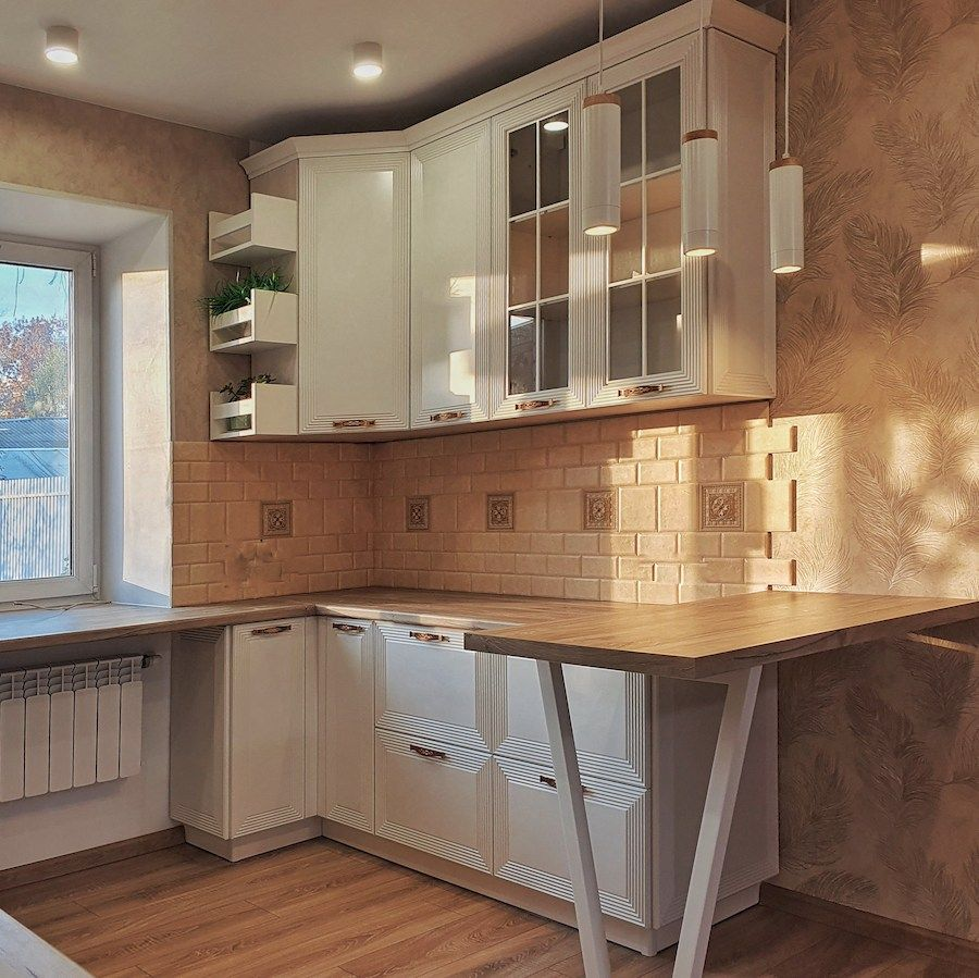 Белый кухонный гарнитур-Кухня МДФ в эмали «Модель 530»-фото4