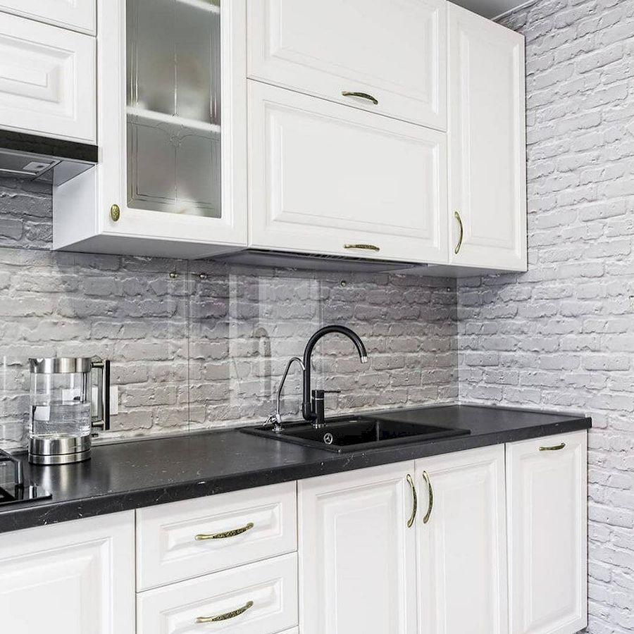 Белый кухонный гарнитур-Кухня МДФ в эмали «Модель 641»-фото2