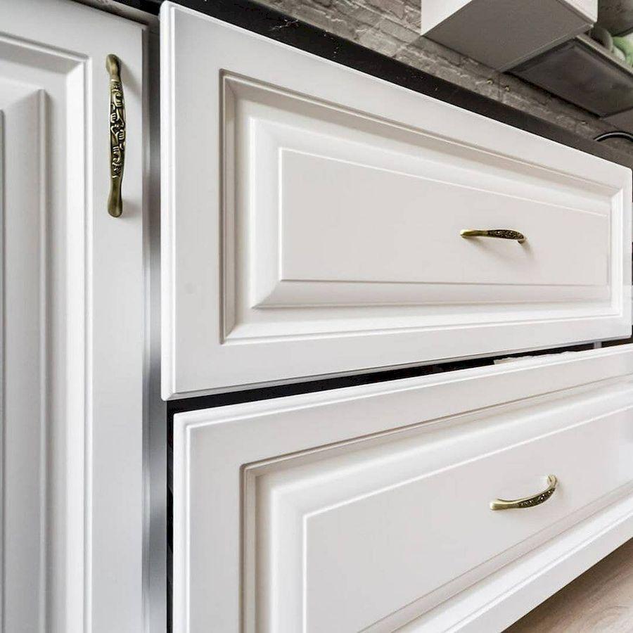 Белый кухонный гарнитур-Кухня МДФ в эмали «Модель 641»-фото8