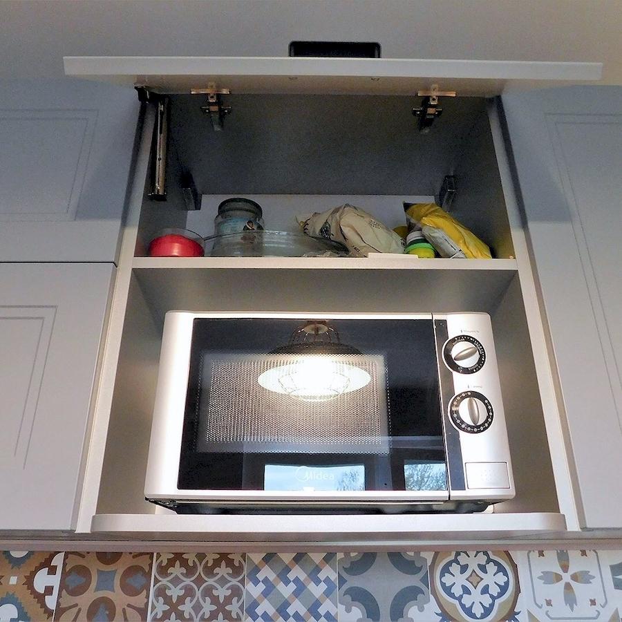 Классические кухни-Кухня МДФ в эмали «Модель 590»-фото8