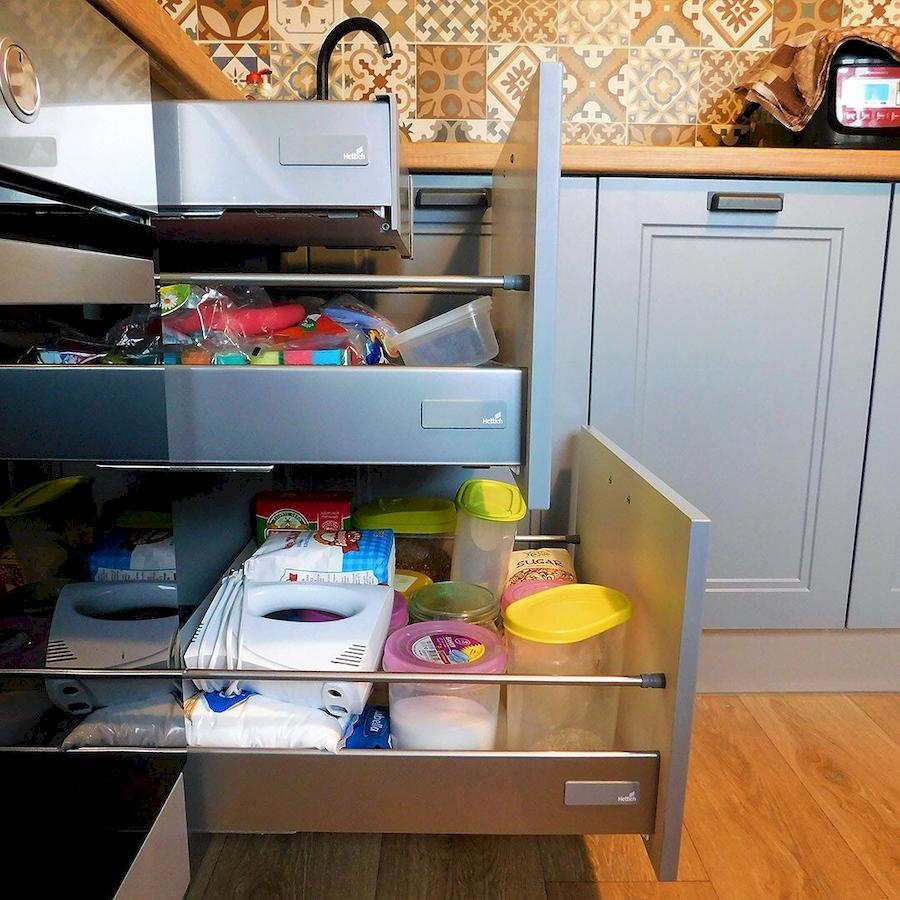 Классические кухни-Кухня МДФ в эмали «Модель 590»-фото6