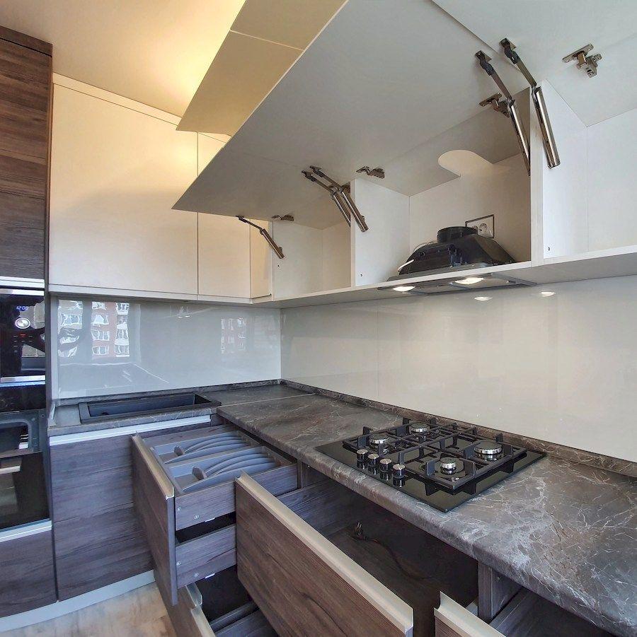 Белый кухонный гарнитур-Кухня из пластика «Модель 539»-фото6