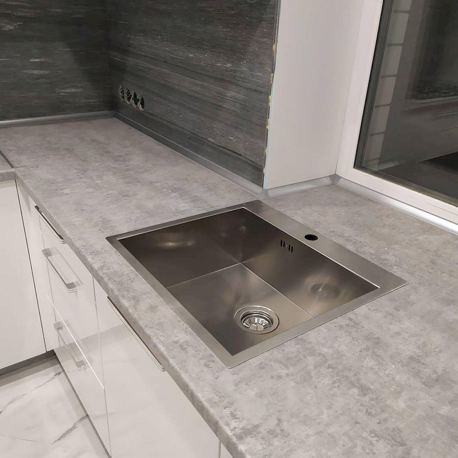 Белый кухонный гарнитур-Кухня МДФ в ПВХ «Модель 669»-фото6