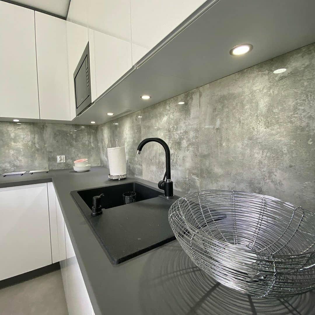 Белый кухонный гарнитур-Кухня МДФ в эмали «Модель 627»-фото3