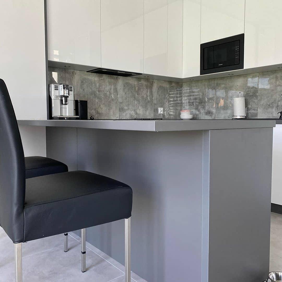 Белый кухонный гарнитур-Кухня МДФ в эмали «Модель 627»-фото4