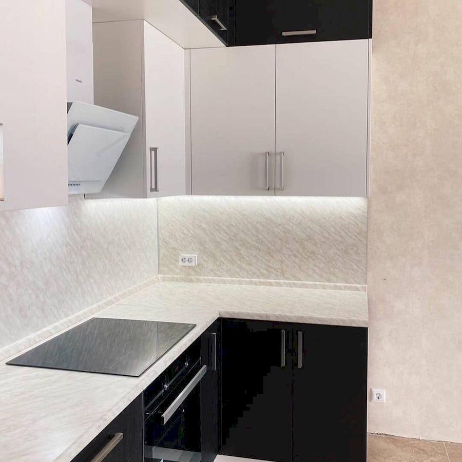 Белый кухонный гарнитур-Кухня МДФ в ПВХ «Модель 681»-фото2