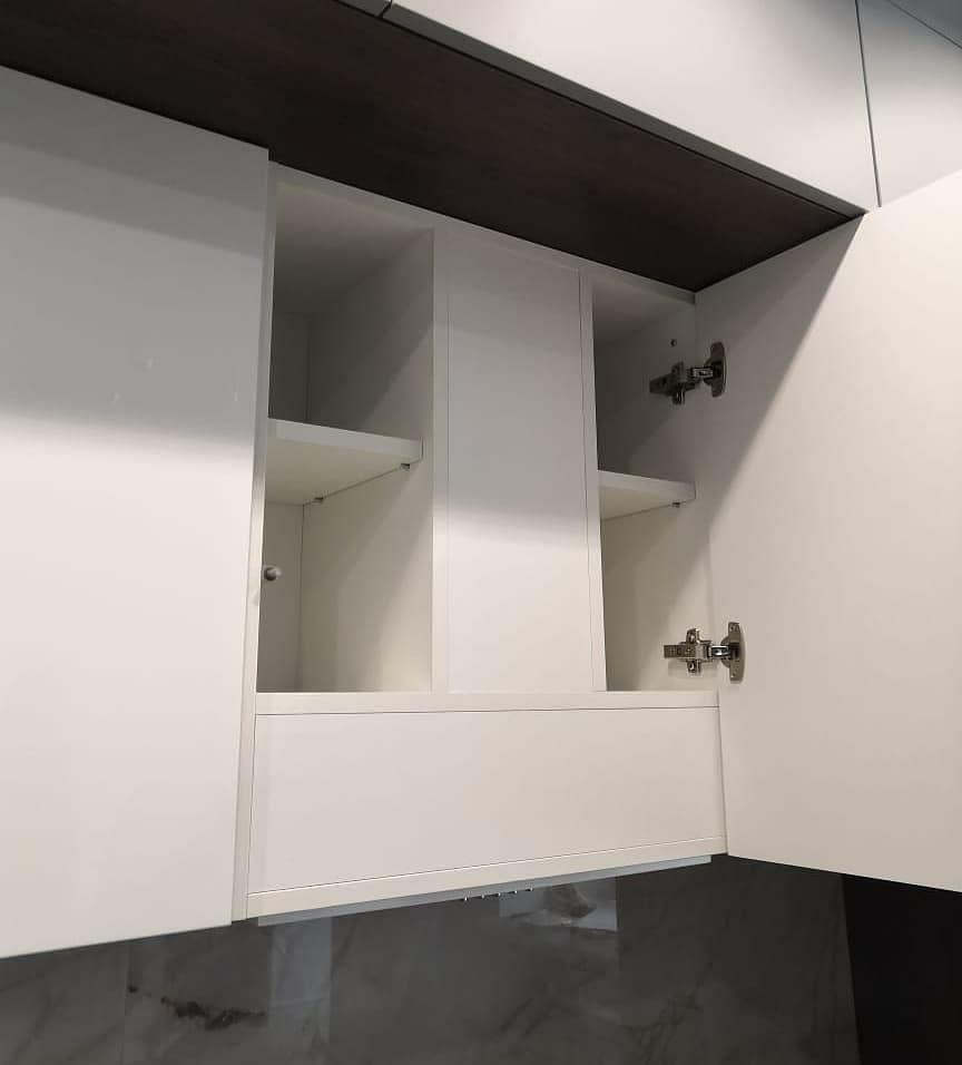 Белый кухонный гарнитур-Кухня МДФ в эмали «Модель 636»-фото5