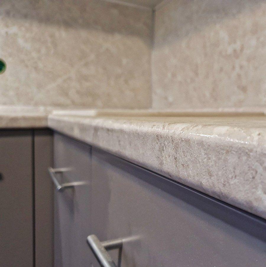Бежевые кухни-Кухня МДФ в ПВХ «Модель 558»-фото3