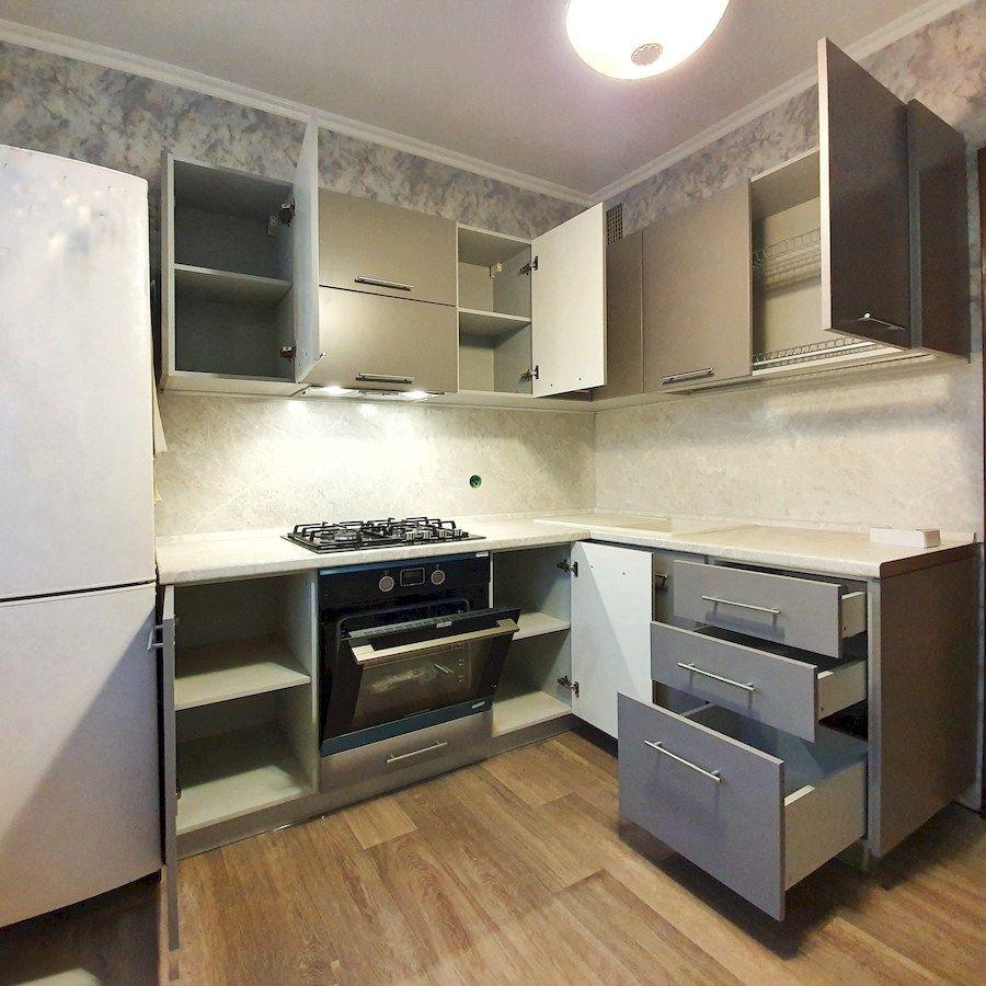 Бежевые кухни-Кухня МДФ в ПВХ «Модель 558»-фото2