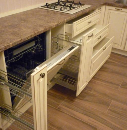 Белый кухонный гарнитур-Кухня из массива «Модель 242»-фото5