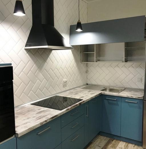 -Кухня из пластика «Модель 373»-фото30