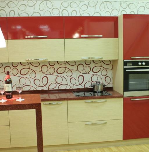 -Кухня из пластика «Модель 129»-фото16