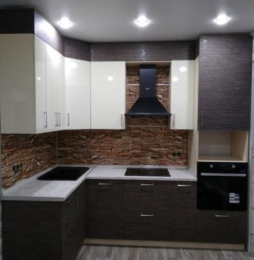 Белый кухонный гарнитур-Кухня МДФ в ПВХ «Модель 523»-фото6