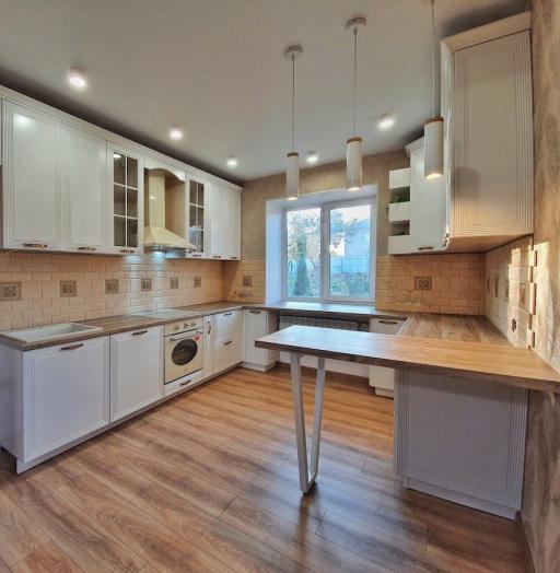Белый кухонный гарнитур-Кухня МДФ в эмали «Модель 530»-фото8