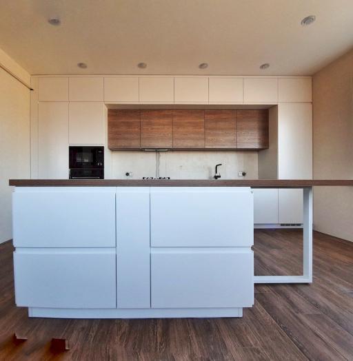 Белый кухонный гарнитур-Кухня МДФ в эмали «Модель 545»-фото10